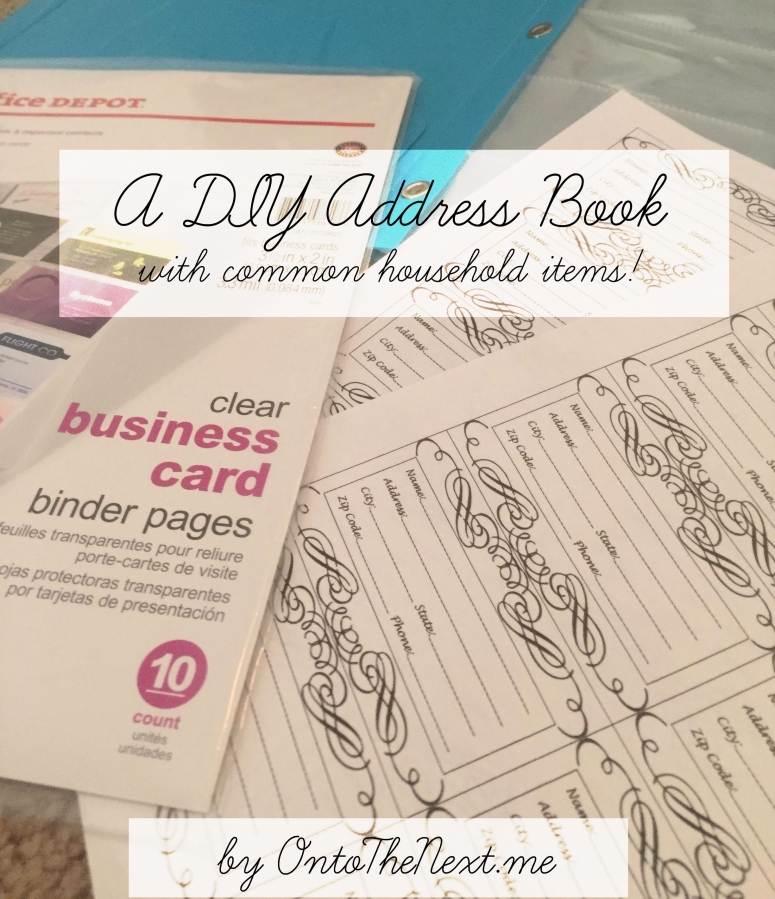 A DIY Address Book, with common household items!