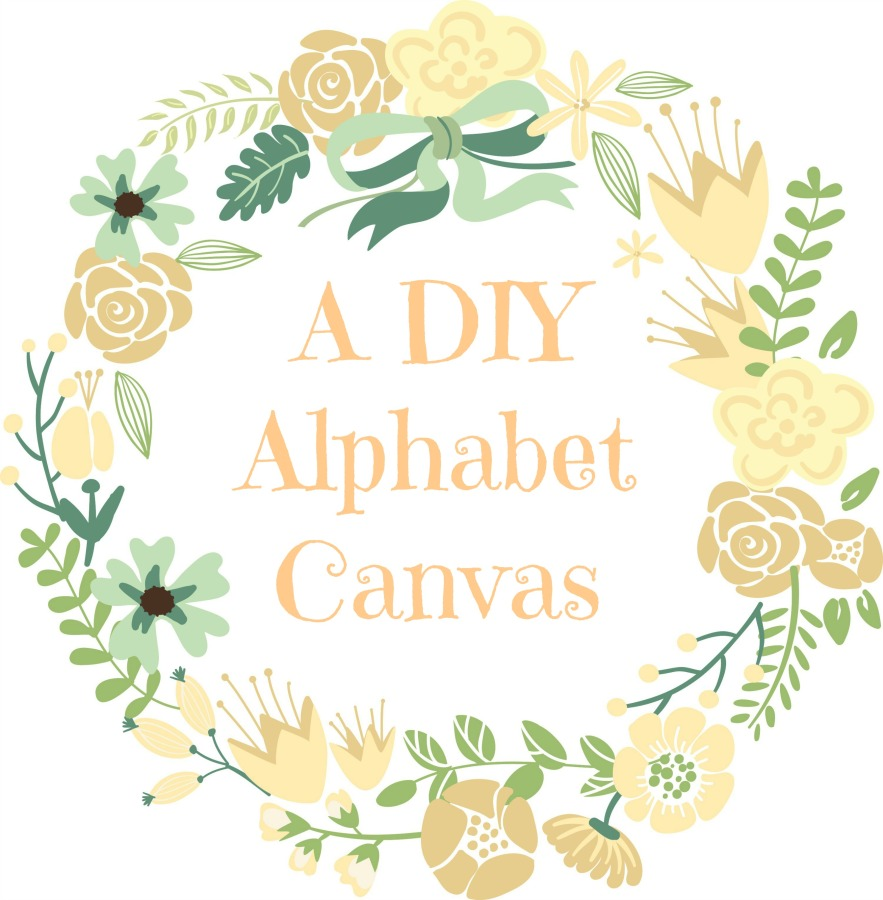 DIY Alphabet Canvas
